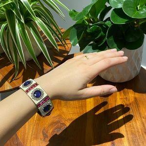 Jewel Tone Faux Stone Bracelet